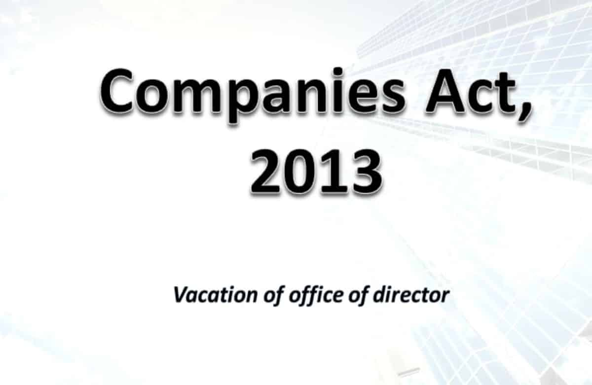 vacation of office of directors