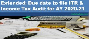 due date to file ITR