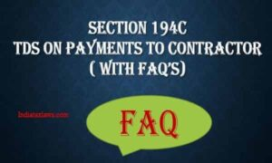 SECTION 194C TDS ON PAYMENT TO CONTRACTOR